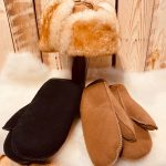 Mens sheepskin Mitts and Hat